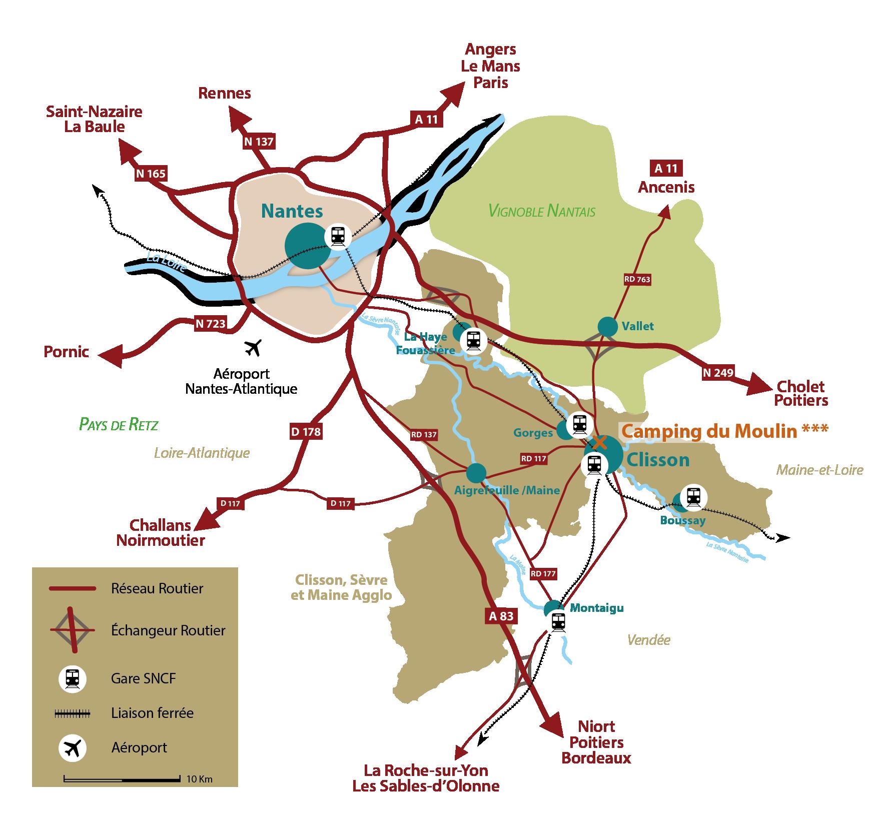 Plan de situation Clisson