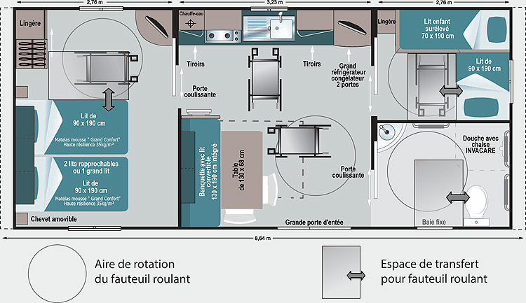 [Translate to Anglais:] Plan mobil-home « Tuileries »